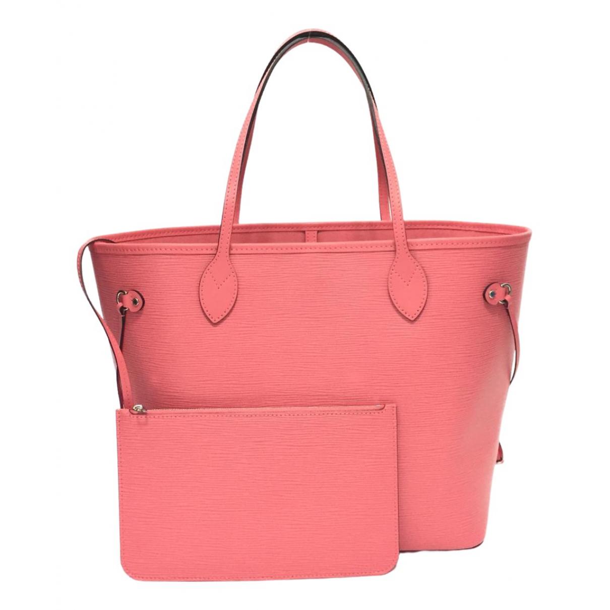 Louis Vuitton - Sac a main Neverfull pour femme en cuir - rose