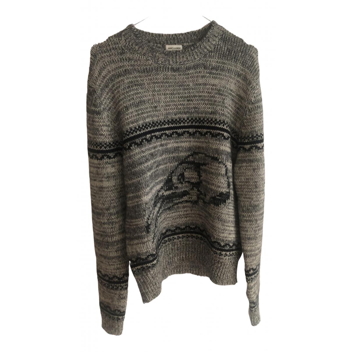 Saint Laurent \N Pullover.Westen.Sweatshirts  in  Grau Wolle