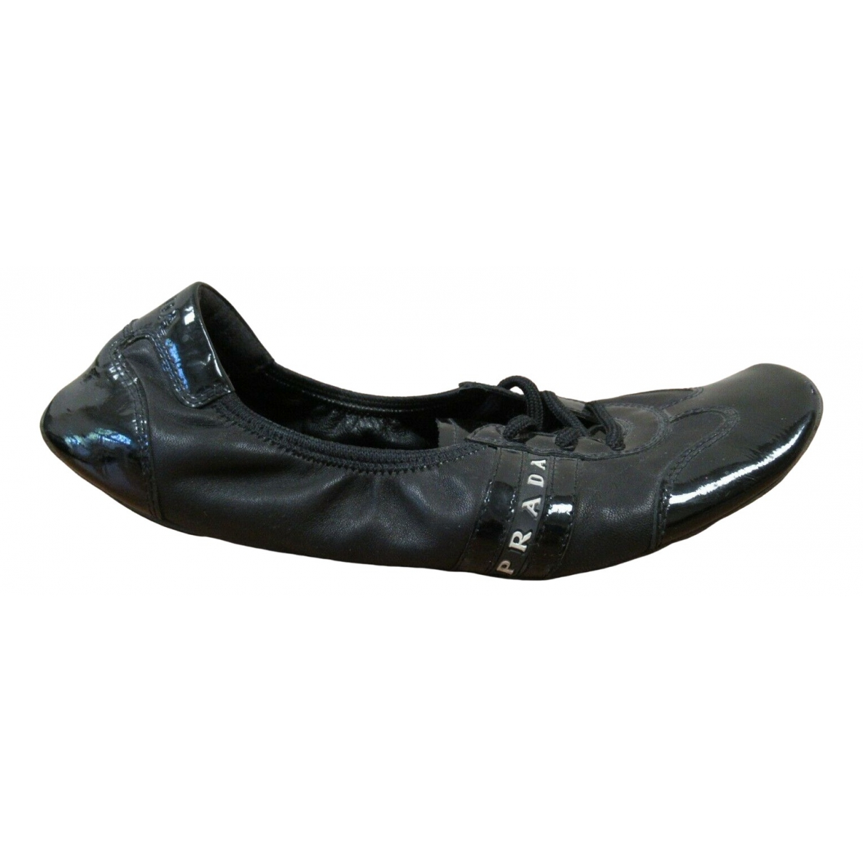 Prada - Ballerines   pour femme en cuir - noir