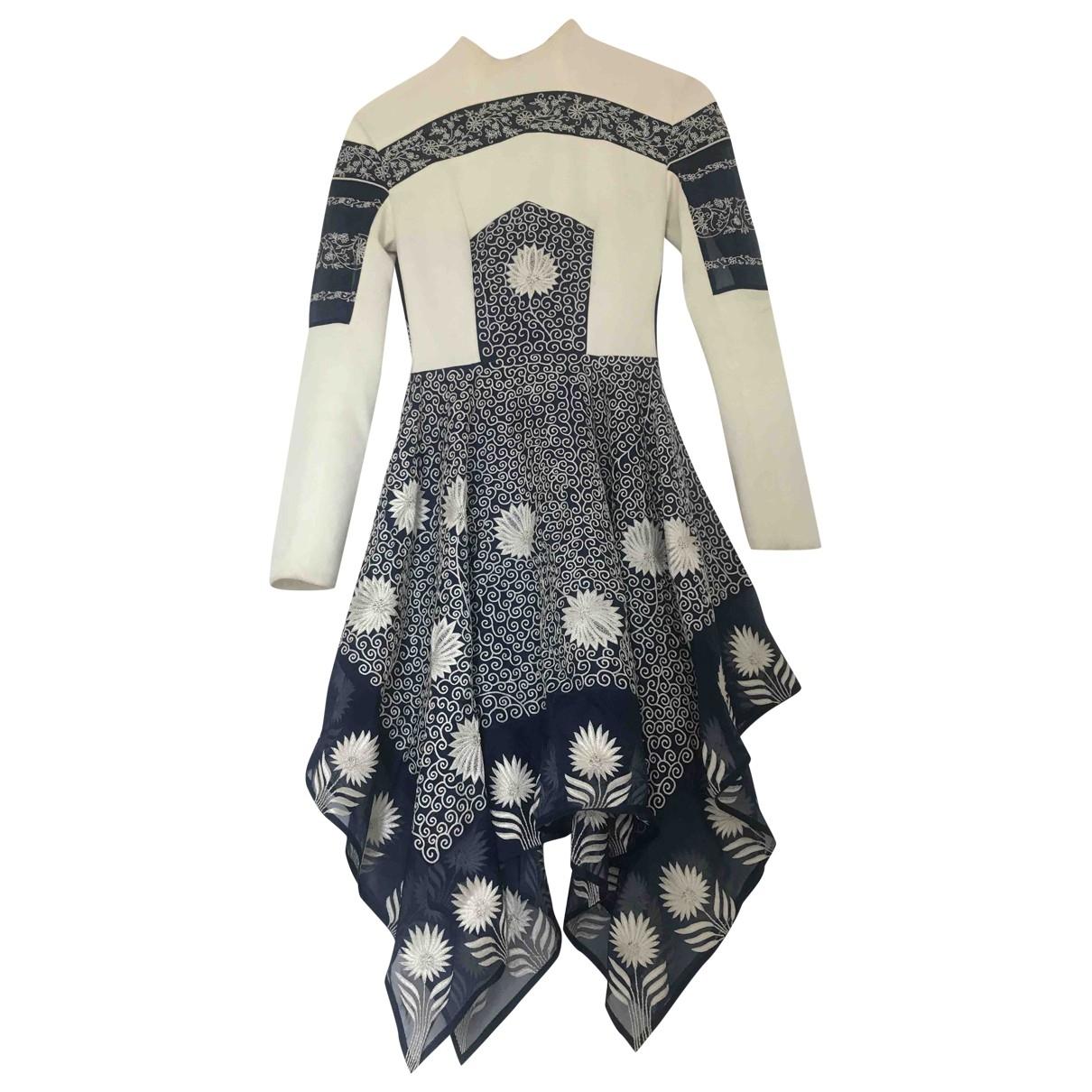 Rahul Mishra \N Kleid in  Weiss Baumwolle