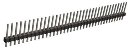 TE Connectivity , AMPMODU MOD II, 40 Way, 1 Row, Straight Pin Header