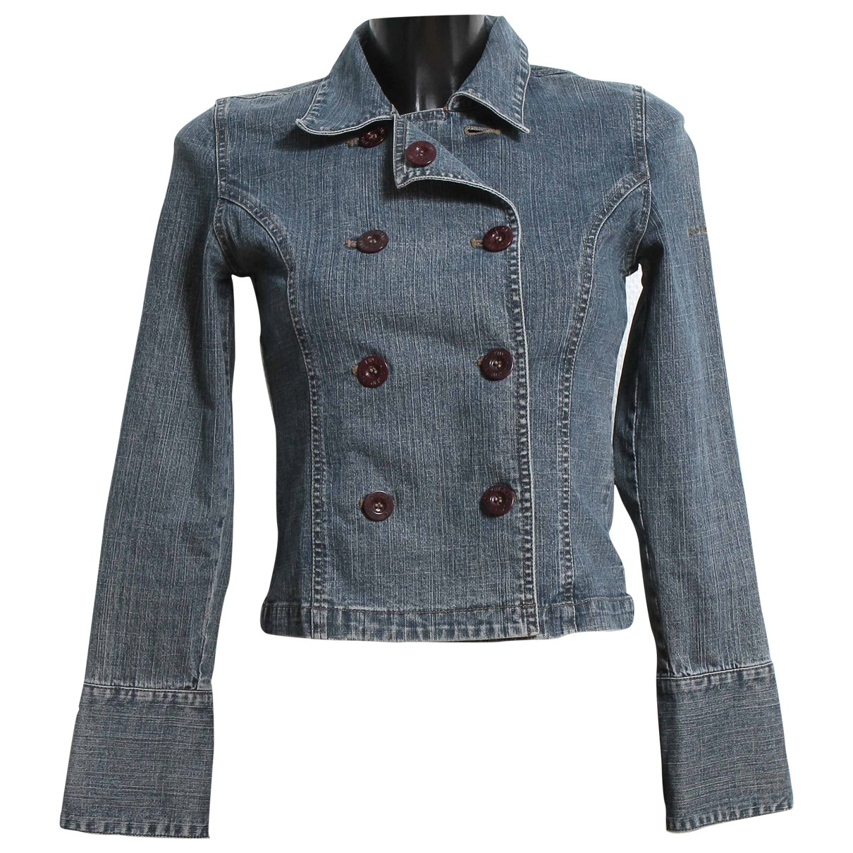 Dkny \N Blue Cotton jacket for Women XS International