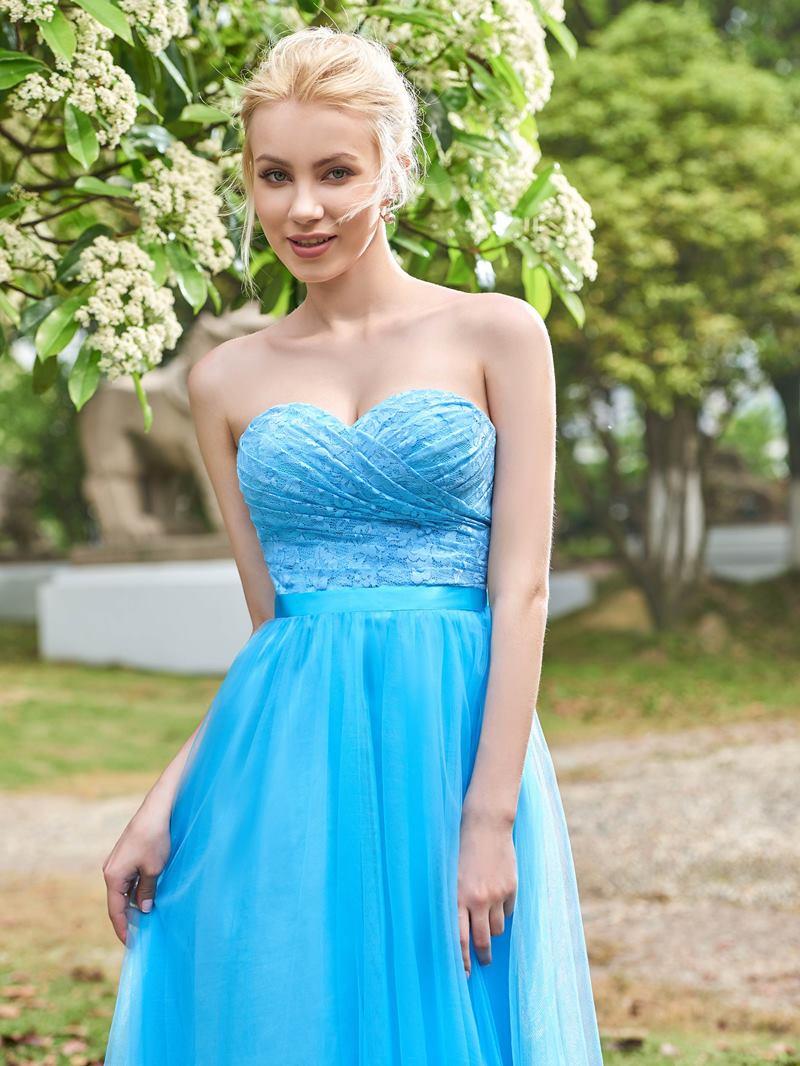 Ericdress Sweetheart Lace Long Bridesmaid Dress