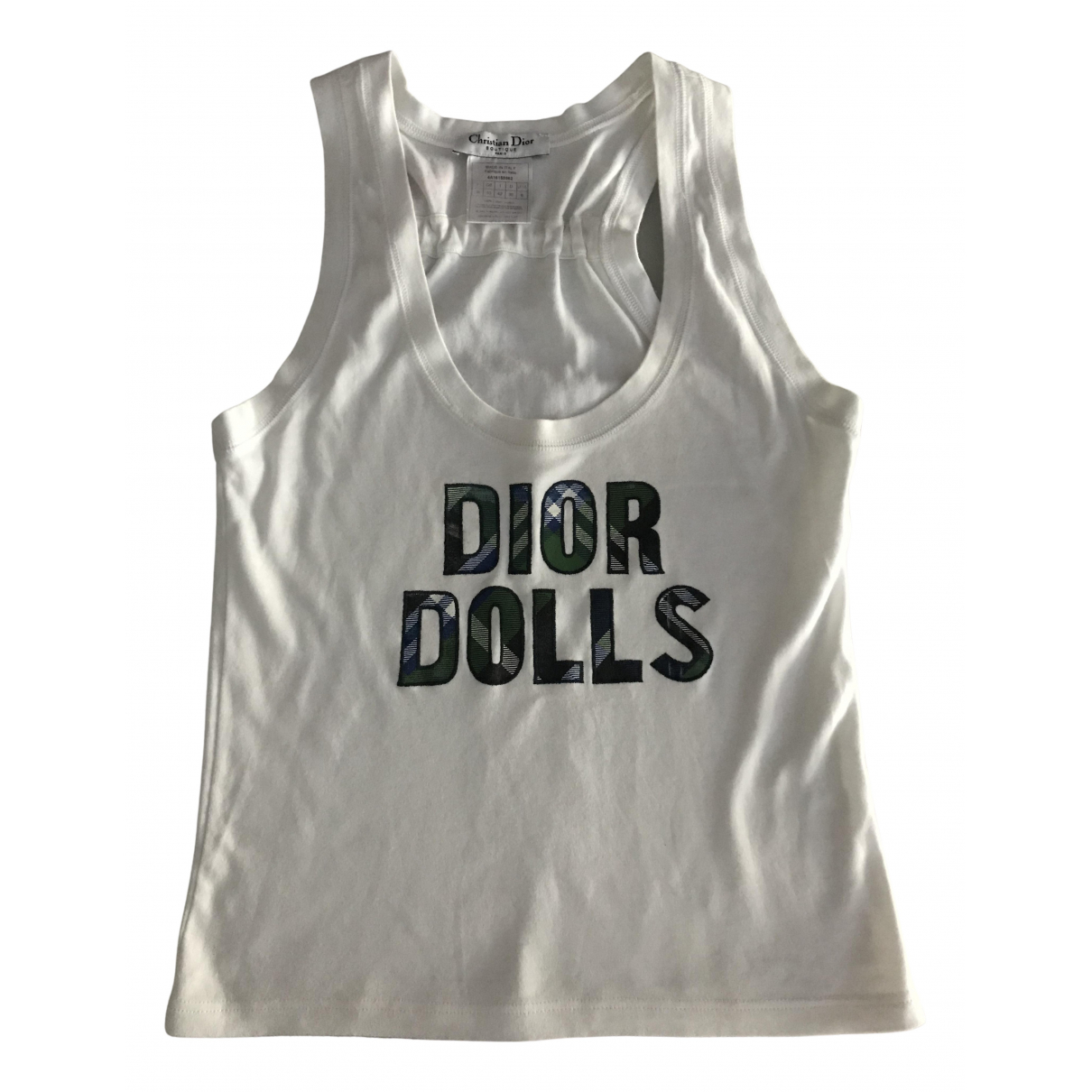 Dior N White Cotton  top for Women 38 FR
