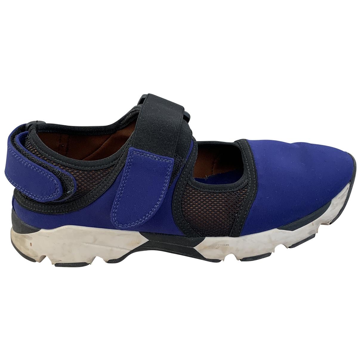 Marni \N Sneakers in  Blau Leinen