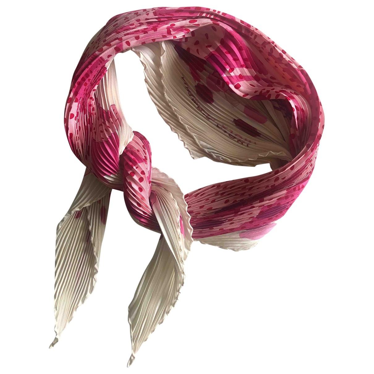 Hermes - Carre Plisse pour femme en soie - rose