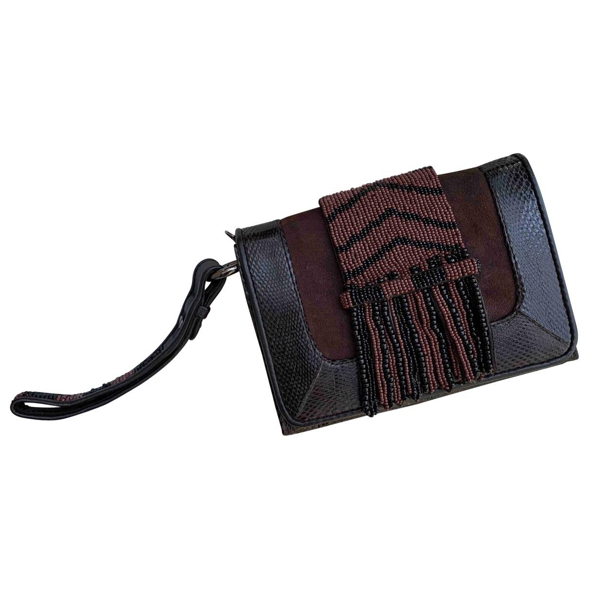 Maliparmi \N Handtasche in  Braun Leder