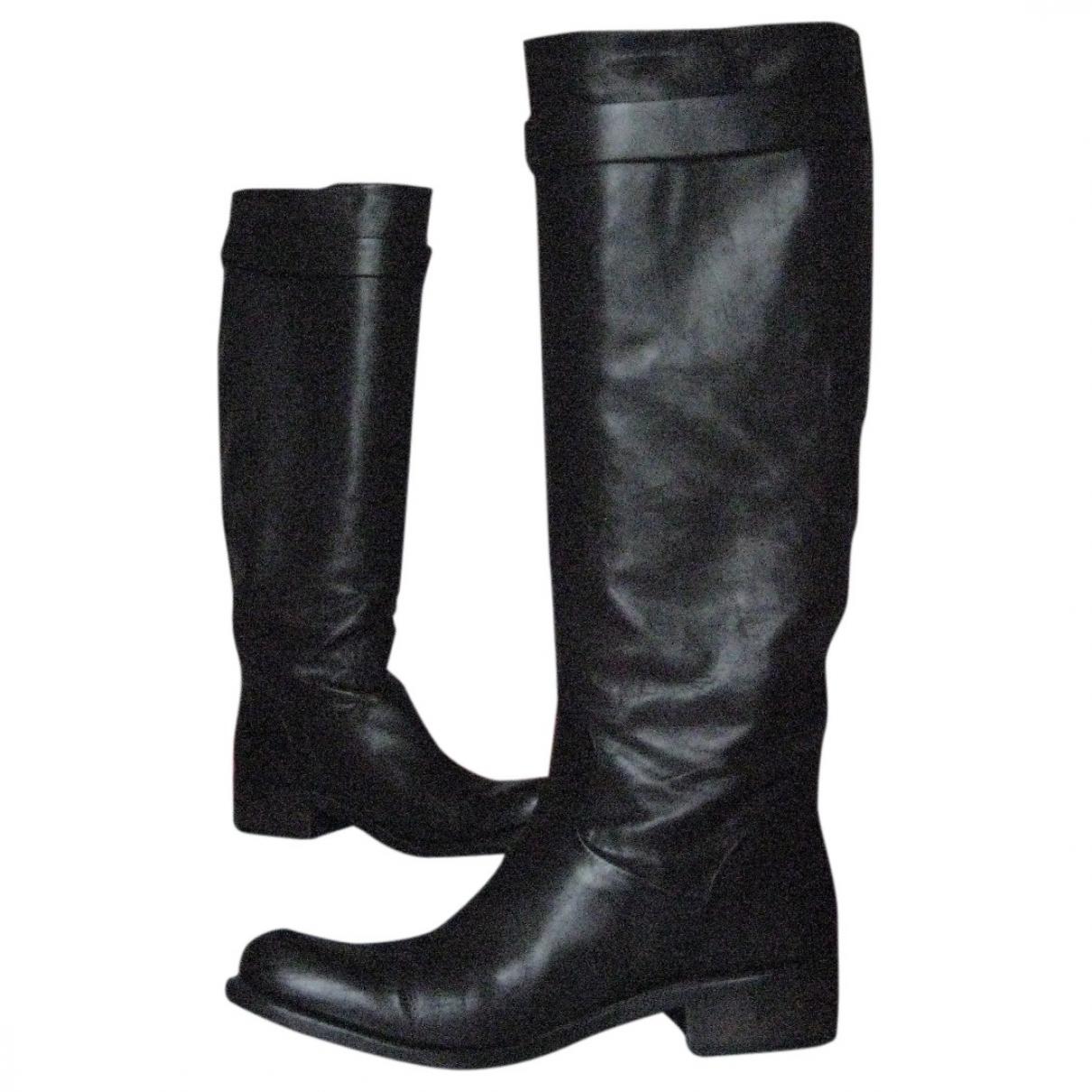 Free Lance - Bottes   pour femme en cuir - marron