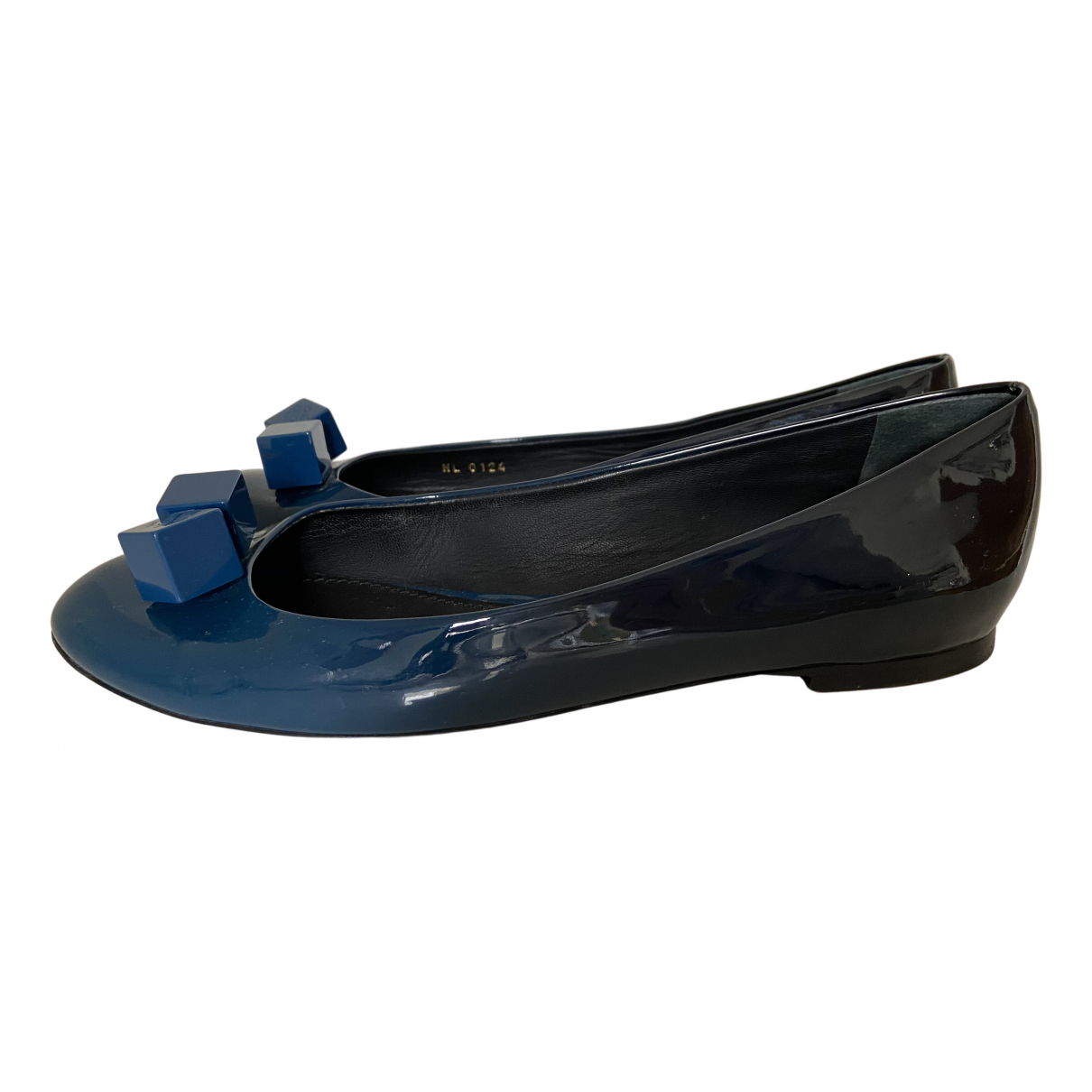 Louis Vuitton N Blue Patent leather Ballet flats for Women 39 EU