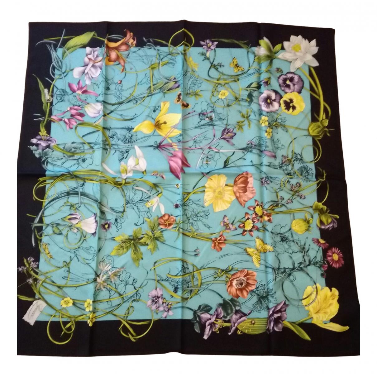 Gucci - Foulard   pour femme en soie - turquoise