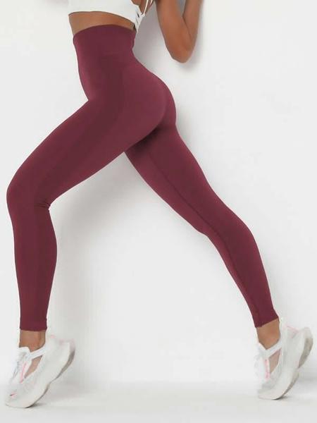 Milanoo Women Yoga Pants Coffee Brown Slim Fit Yoga Leggings