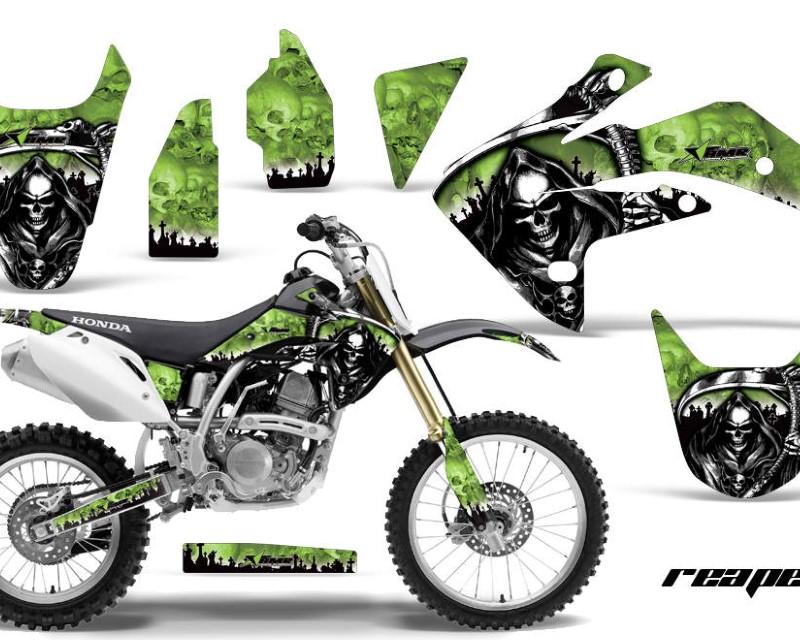AMR Racing Dirt Bike Graphics Kit Decal Sticker Wrap For Honda CRF150R 2007-2016áREAPER GREEN