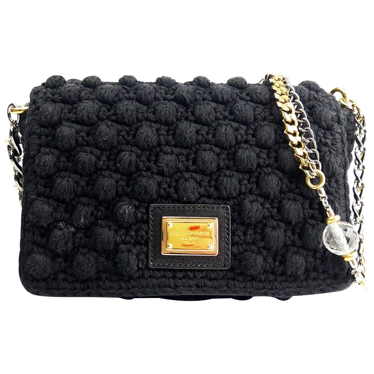 Dolce & Gabbana \N Black Linen handbag for Women \N