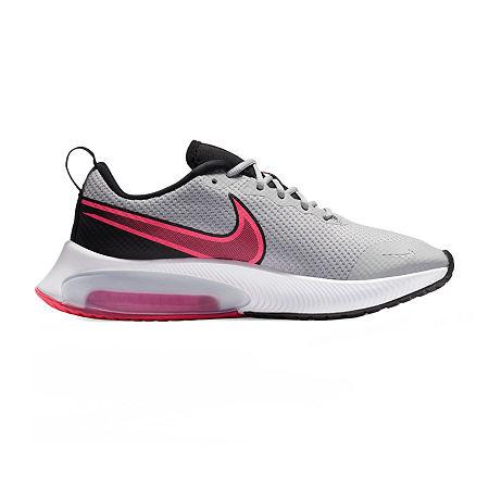 Nike Air Zoom Arcadia Girls Running Shoes, 4 Medium, Gray