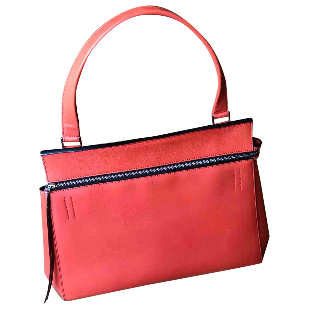 Celine Edge Handtasche in  Orange Leder