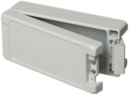 Bopla Bocube Alu, Light Grey Aluminium Enclosure, IP66, IP68, IP69, Flanged, 199 x 86 x 60mm
