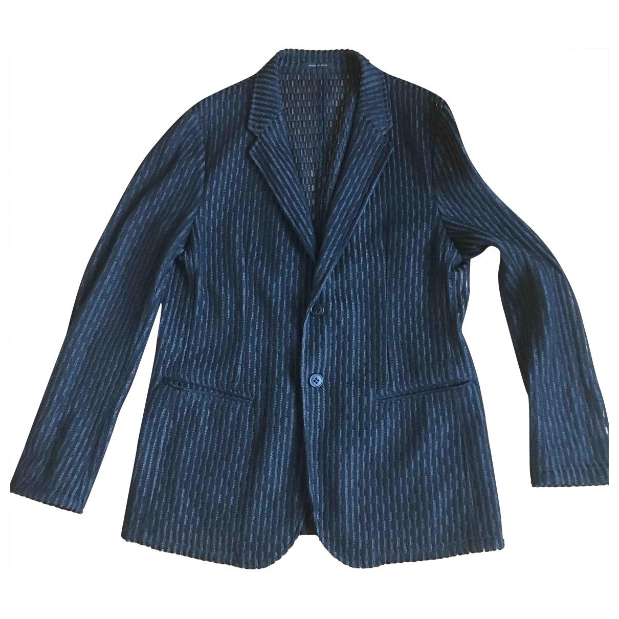 Emporio Armani \N Grey Cotton jacket  for Men 50 IT