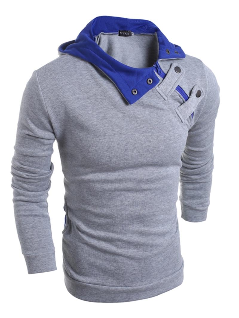 Ericdress Hooded Patchwork Pullover Mens Hoodie