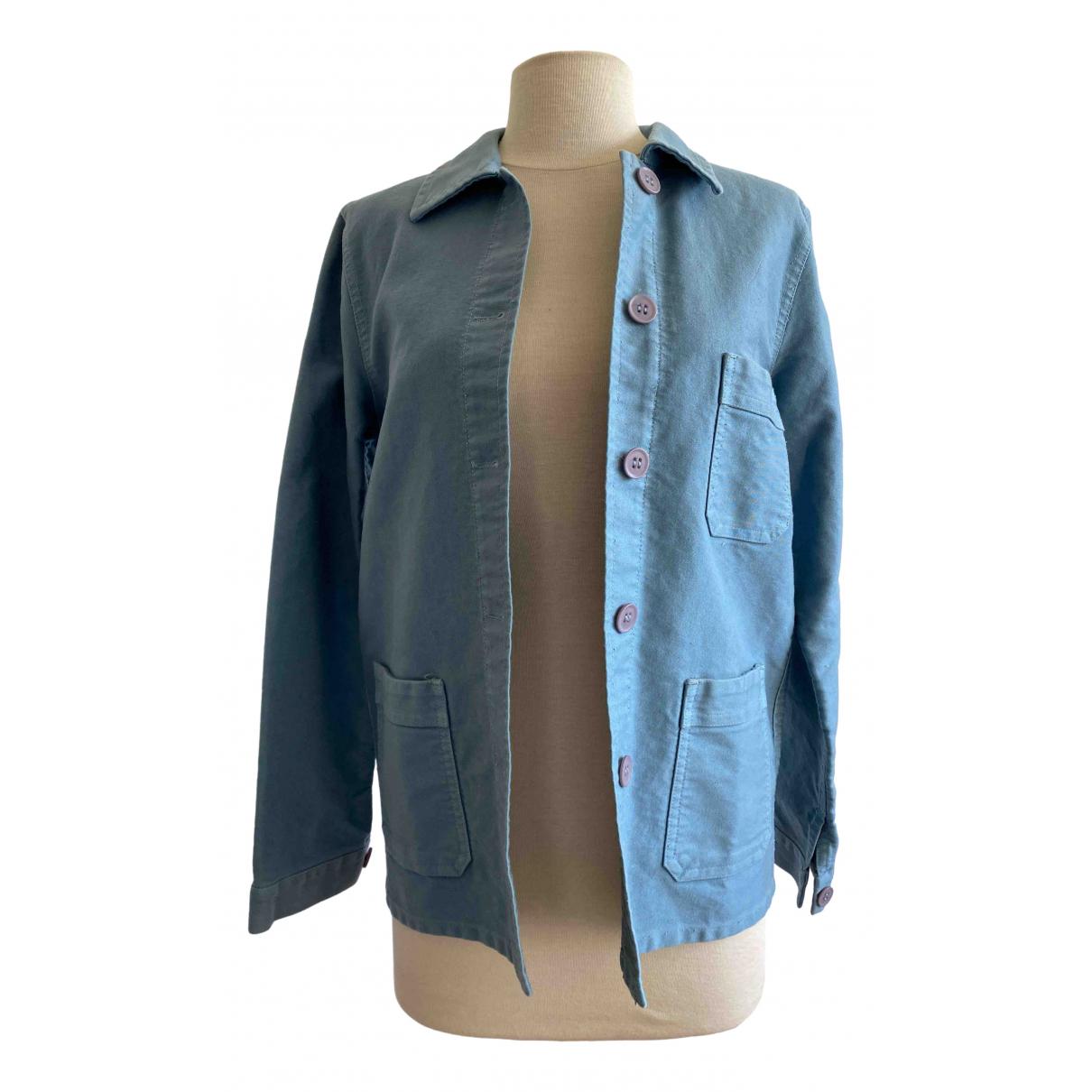 Le Mont Saint Michel \N Blue Cotton jacket for Women 42 FR