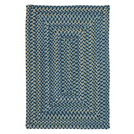 Colonial Mills Nashville Braided Rectangular Reversible Indoor Rugs, One Size , Blue