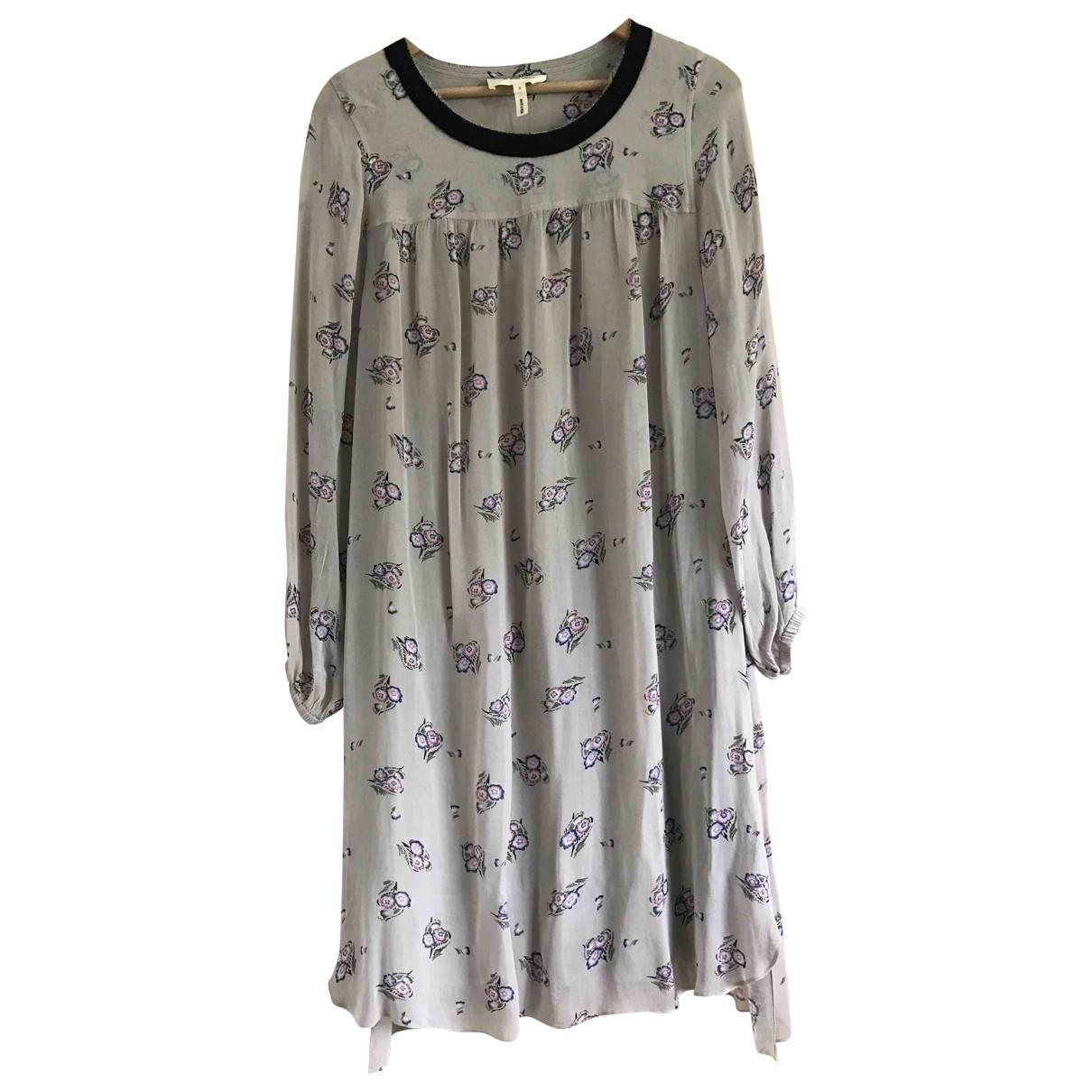 Isabel Marant Etoile \N Grey Silk dress for Women 40 FR