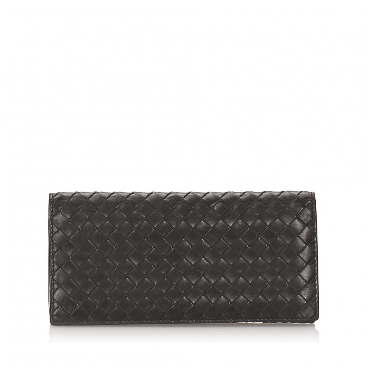 Bottega Veneta - Portefeuille   pour femme en cuir - noir