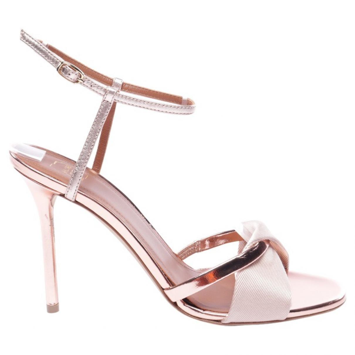 Malone Souliers - Sandales   pour femme en cuir - metallise