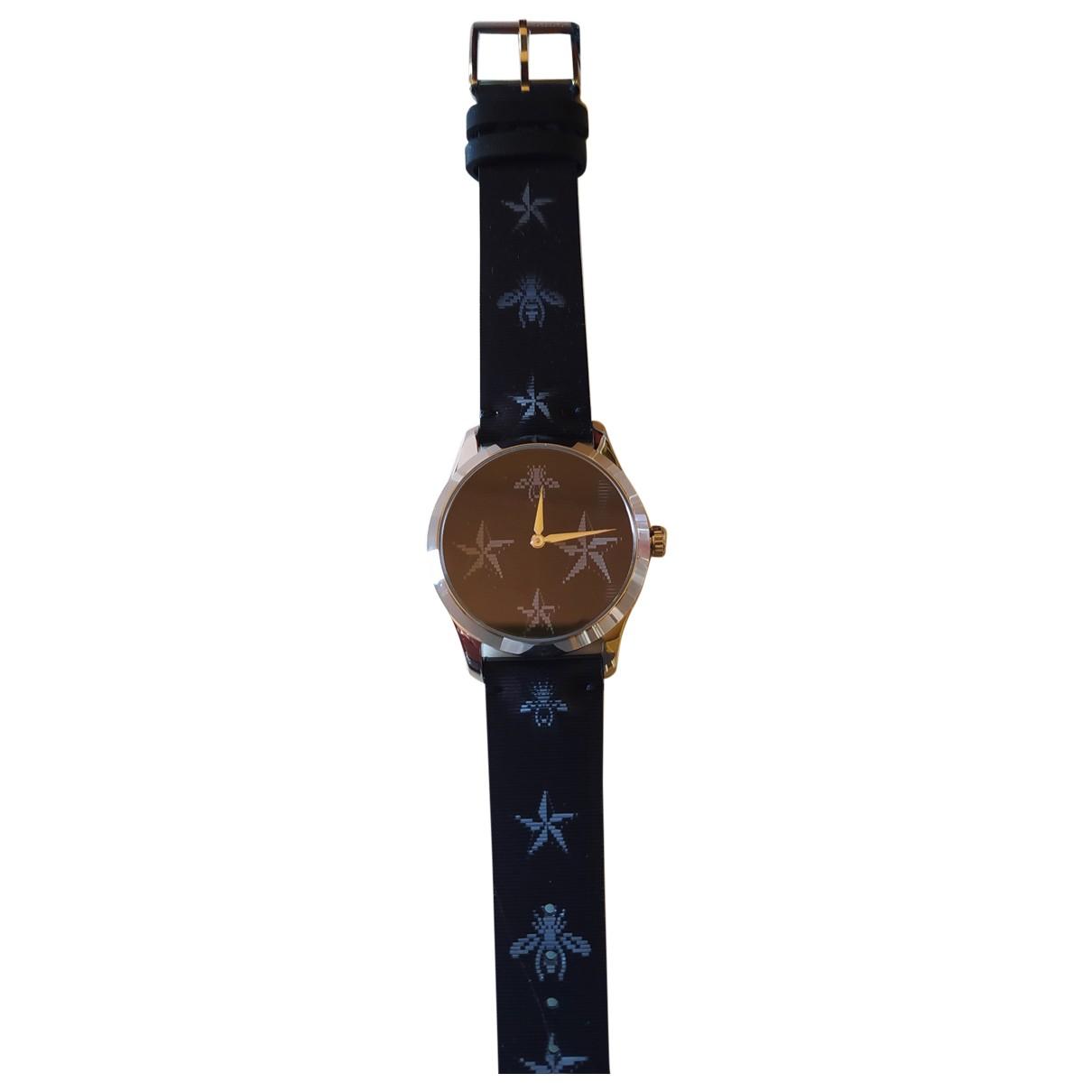 Gucci Le Marche des Merveilles Uhr in  Schwarz Stahl
