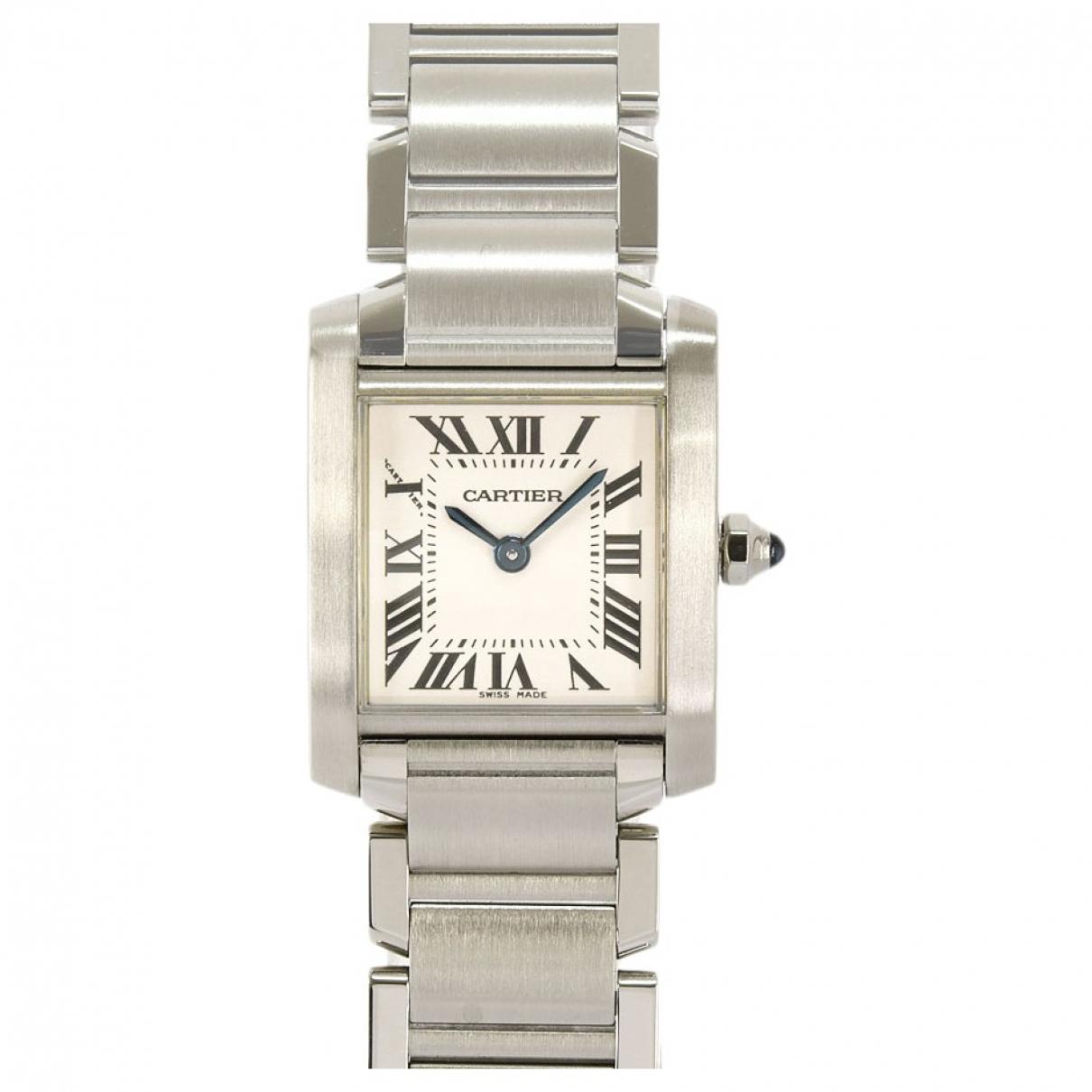 Cartier Tank Française White Steel watch for Women \N