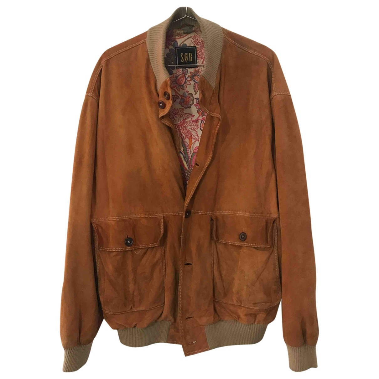 Non Signé / Unsigned \N Brown Leather jacket  for Men L International