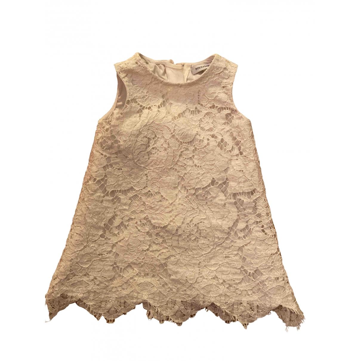 Dolce & Gabbana - Robe    pour enfant - blanc