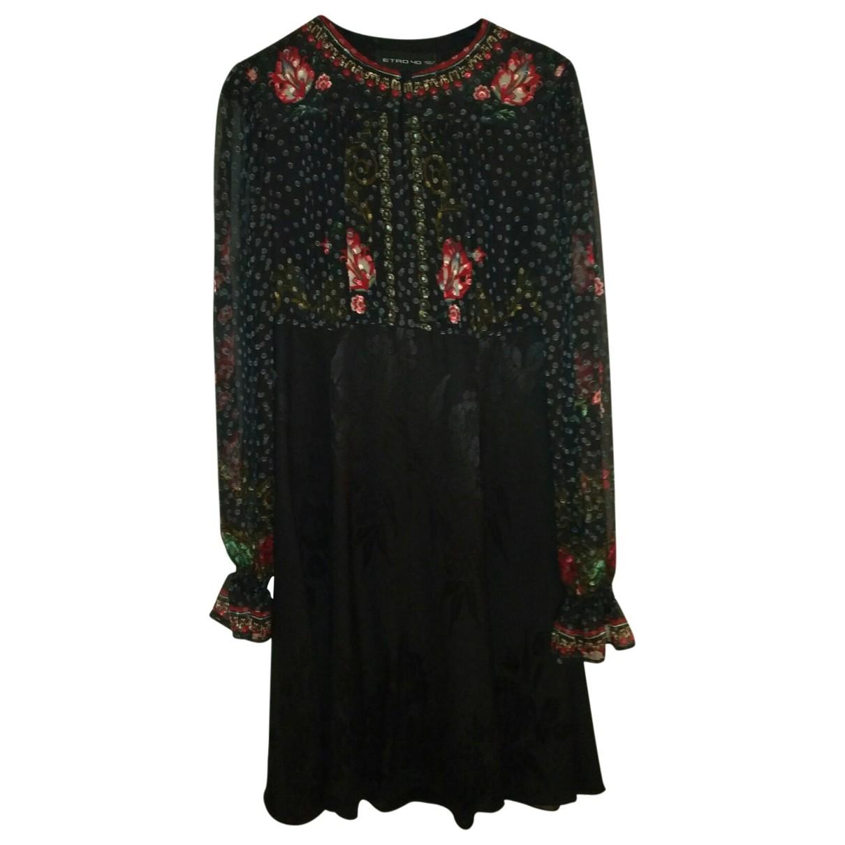 Etro \N Multicolour Silk dress for Women 40 IT