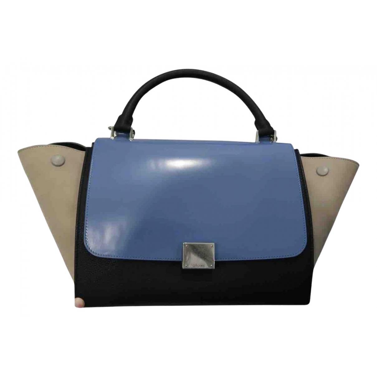 Celine Trapeze Handtasche in  Blau Leder