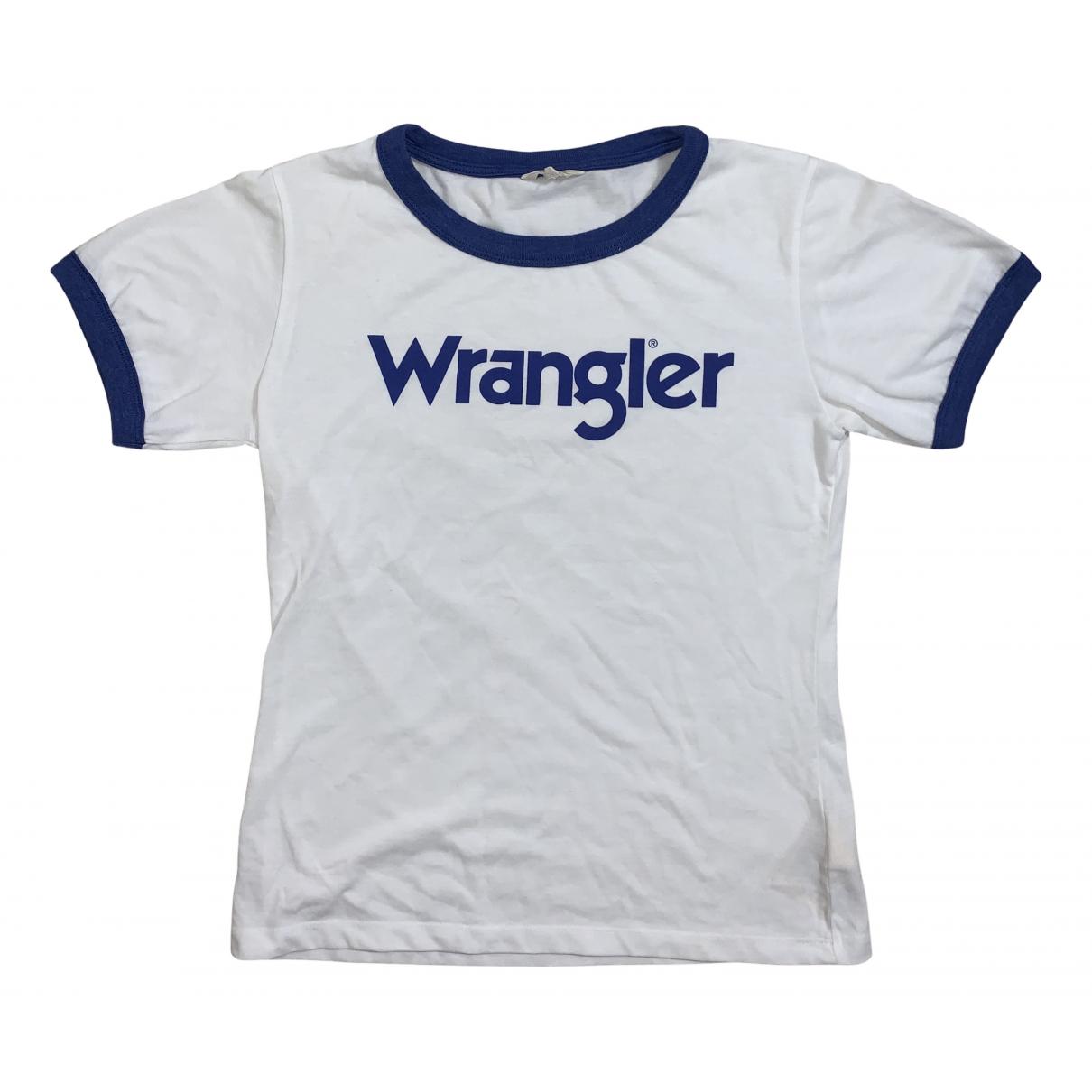 Wrangler - Top   pour femme en coton - blanc