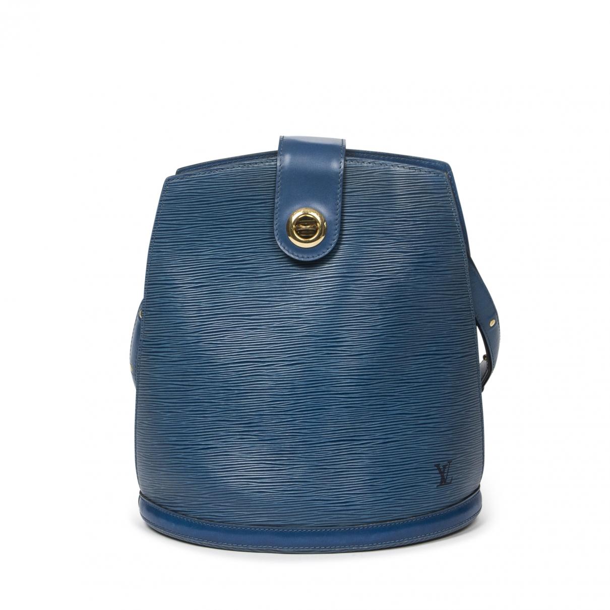 Louis Vuitton Cluny Handtasche in  Blau Leder