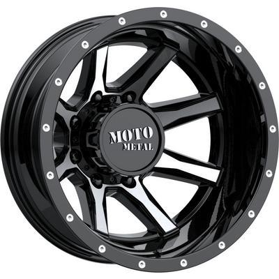 Moto Metal MO995 Rear Dually Wheel, 17x6.5 with 8x165.1 Bolt Pattern - Gloss Black Machined - MO995765803140N
