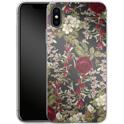 Apple iPhone X Silikon Handyhuelle - Floral Explorer von Zala Farah