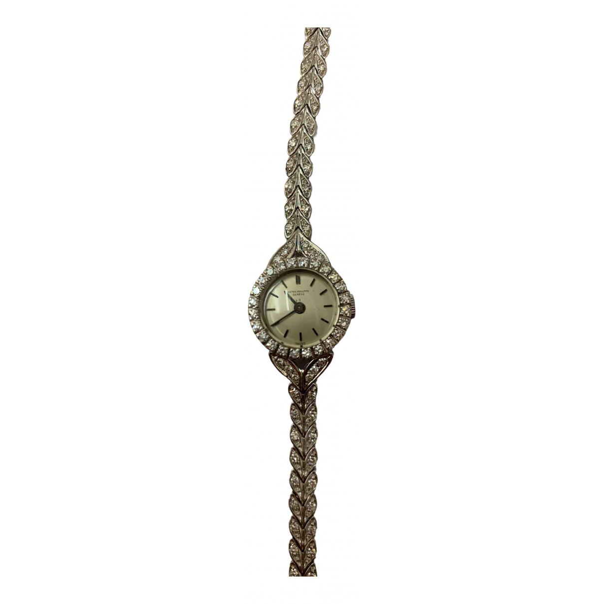 Patek Philippe \N Uhr in  Weiss Weissgold