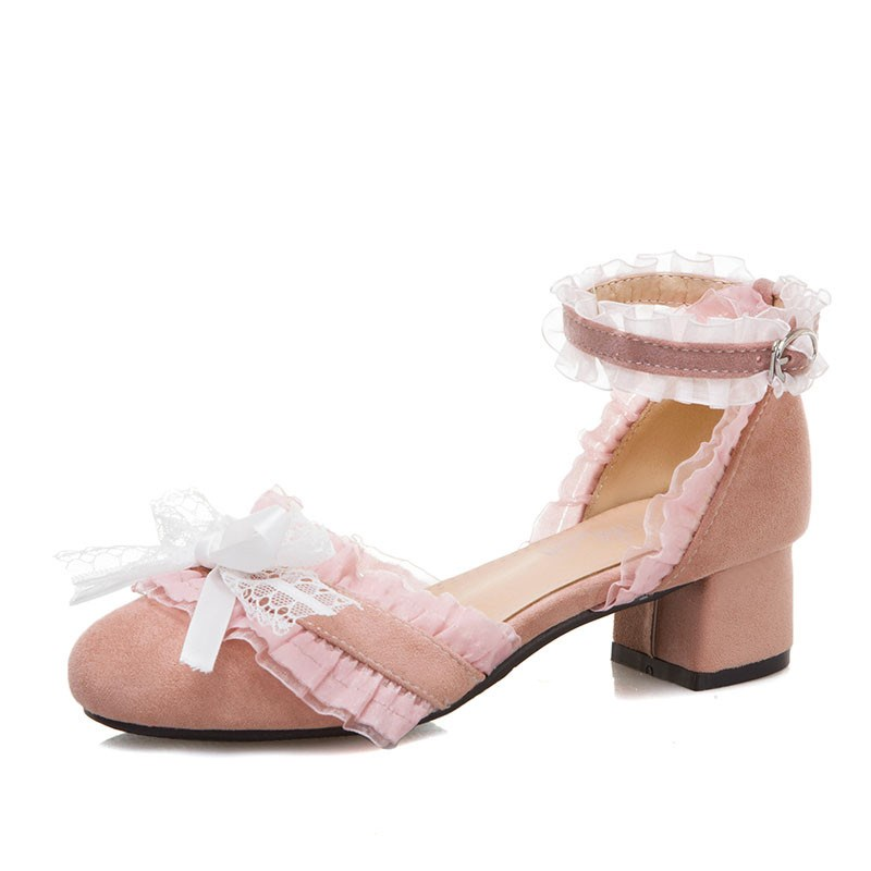 Ericdress Block Heel Thread Line-Style Buckle 5cm Thin Shoes