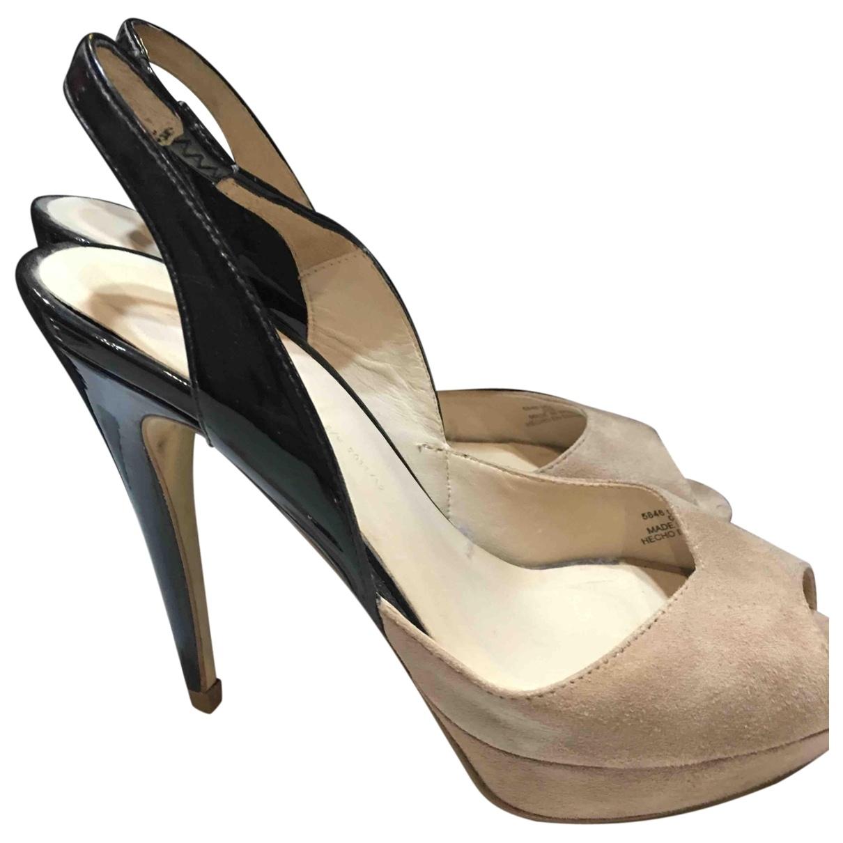 Zara \N Suede Heels for Women 37 EU