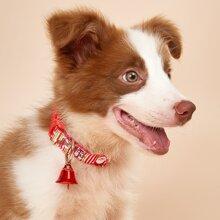 Collar de perro con campana de navidad