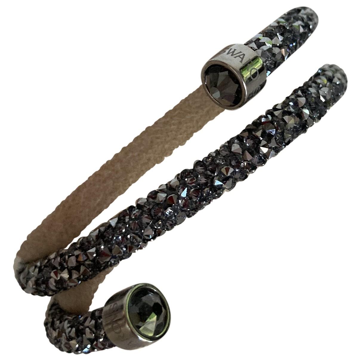 Swarovski \N Armband in  Anthrazit Metall