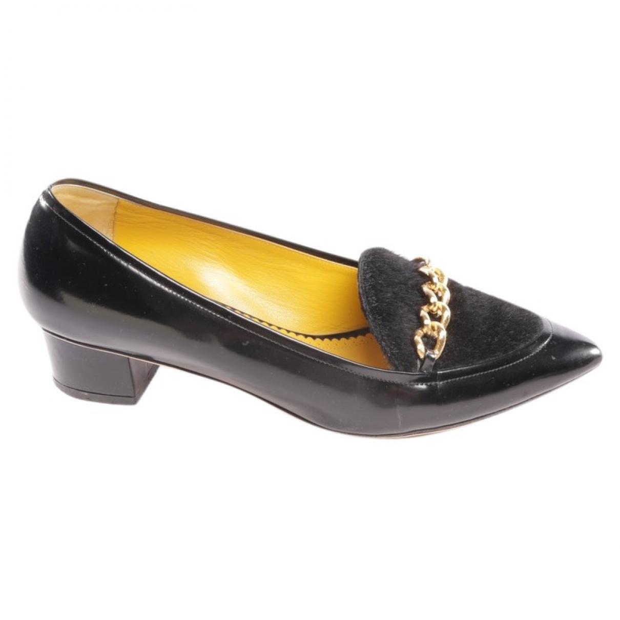 Charlotte Olympia \N Black Leather Heels for Women 41.5 EU