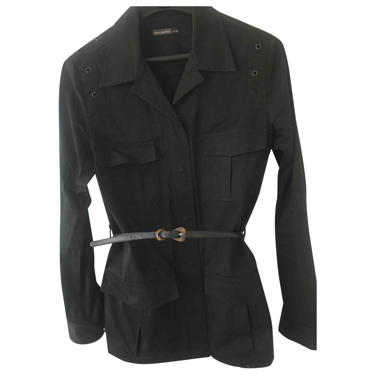 Barbara Bui \N Black Cotton jacket for Women 36 FR
