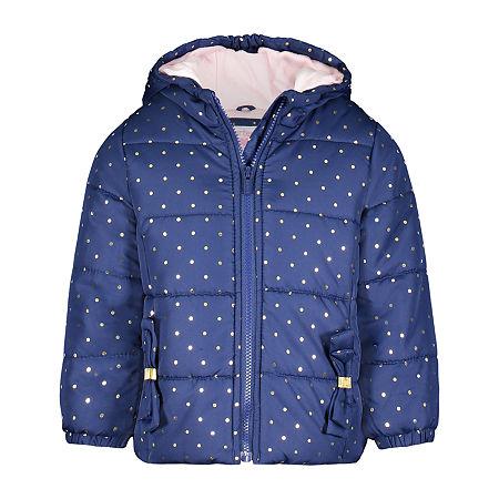Carters Baby Girls Hooded Heavyweight Puffer Jacket, 18 Months , Blue
