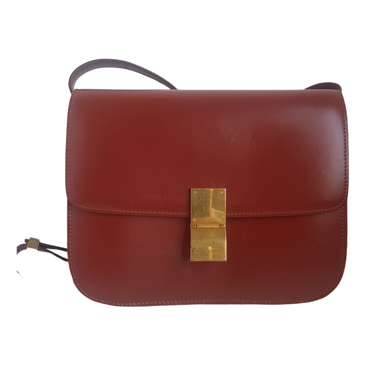Celine Classic Burgundy Leather handbag for Women \N