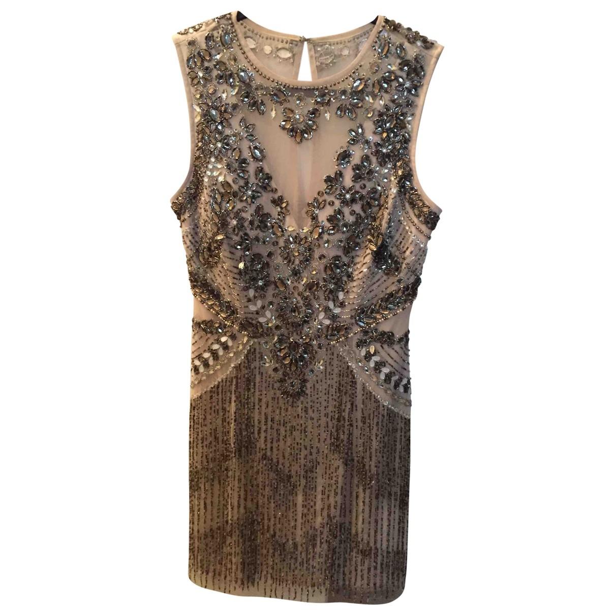 Aidan Mattox \N Silver Glitter dress for Women 36 FR