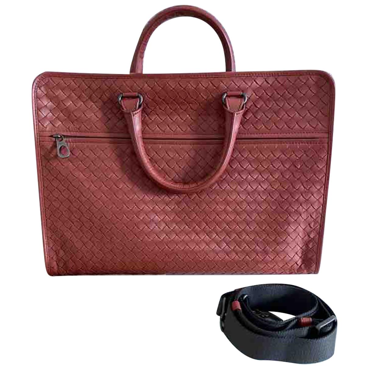 Bottega Veneta \N Orange Leather bag for Men \N