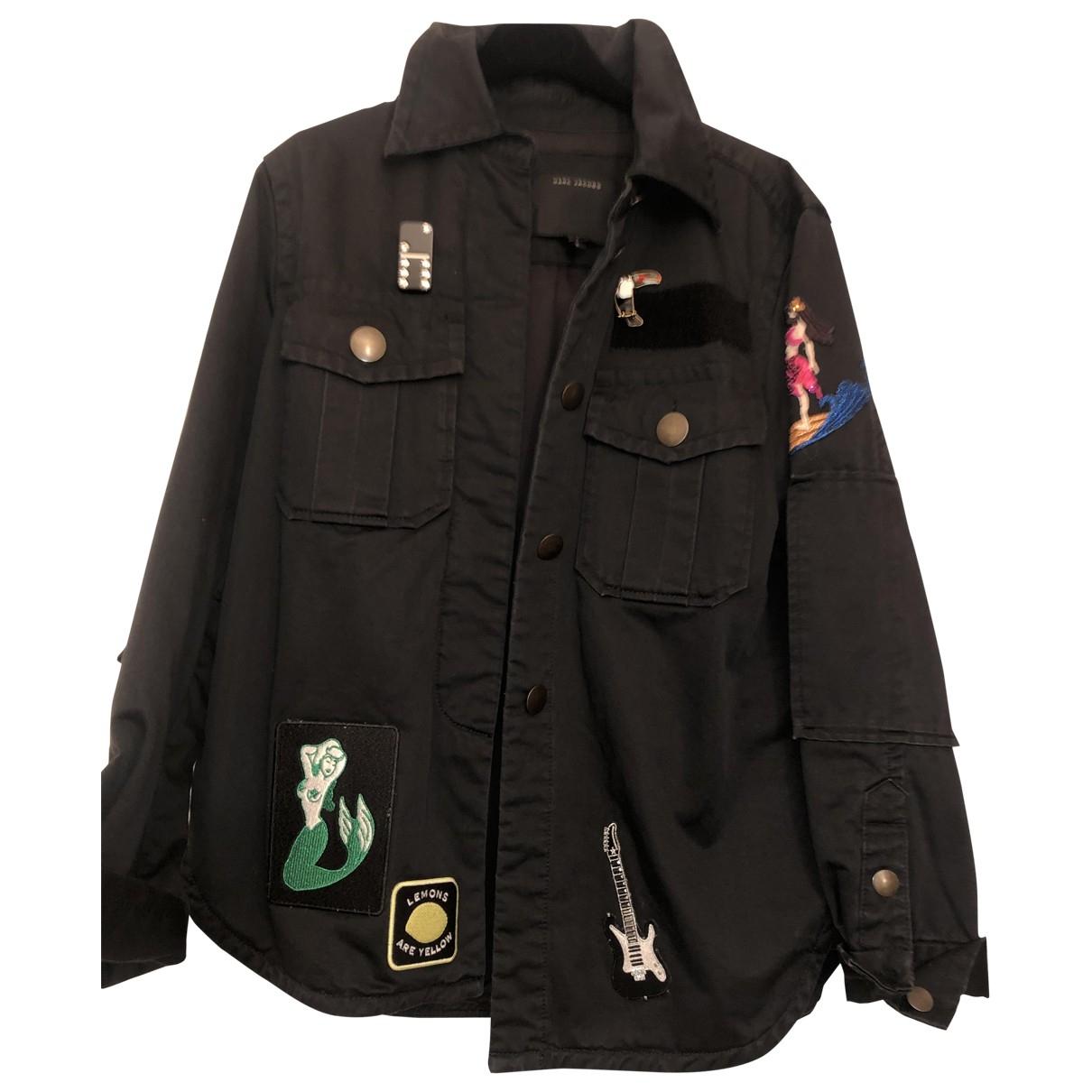 Marc Jacobs \N Lederjacke in  Schwarz Denim - Jeans