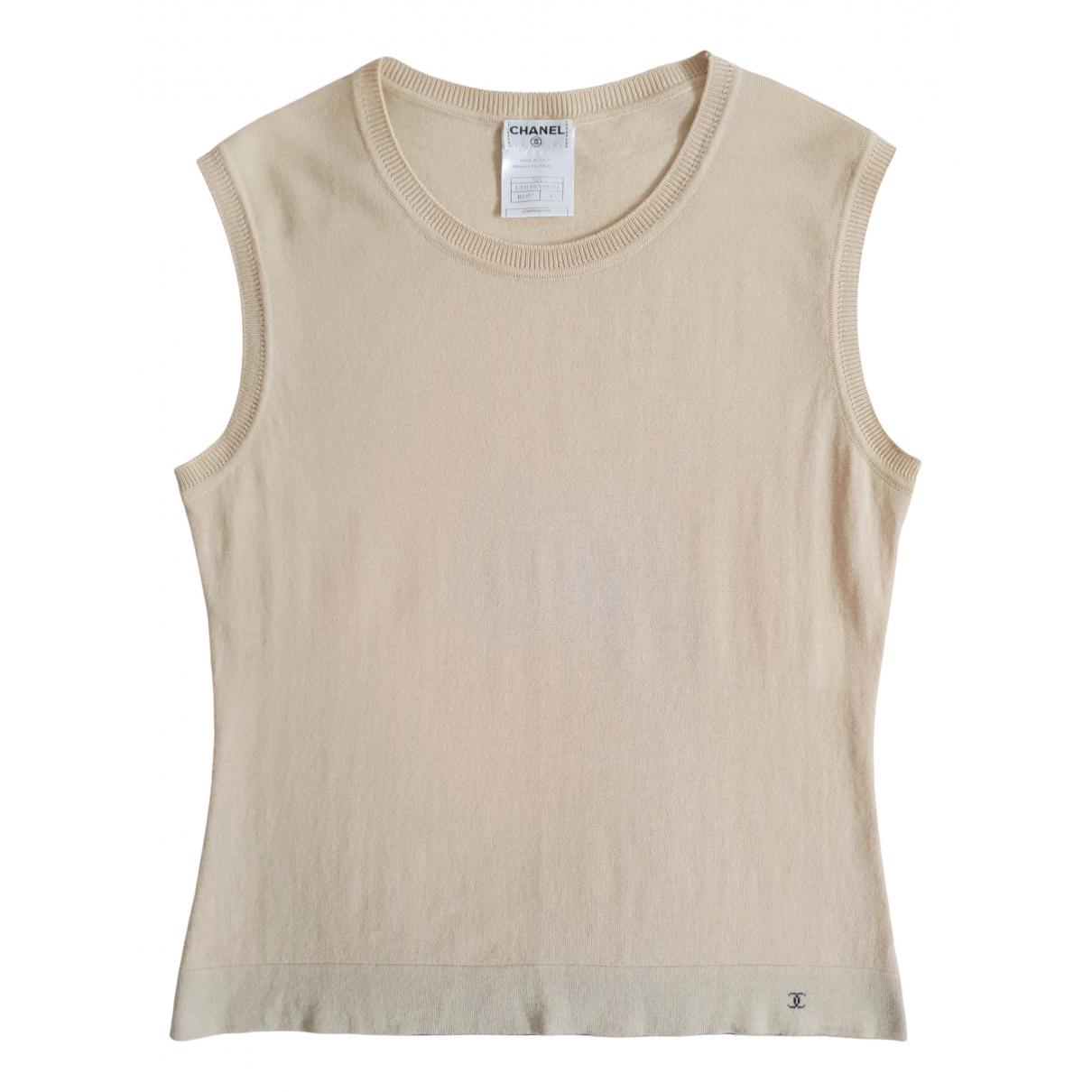 Chanel \N Beige Wool  top for Women 40 IT